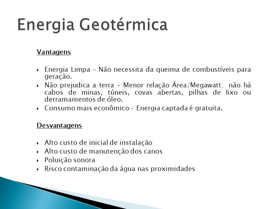 Energia Geotérmica Vantagens