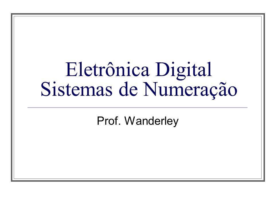 Eletrônica Digital Sistemas de Numeração
