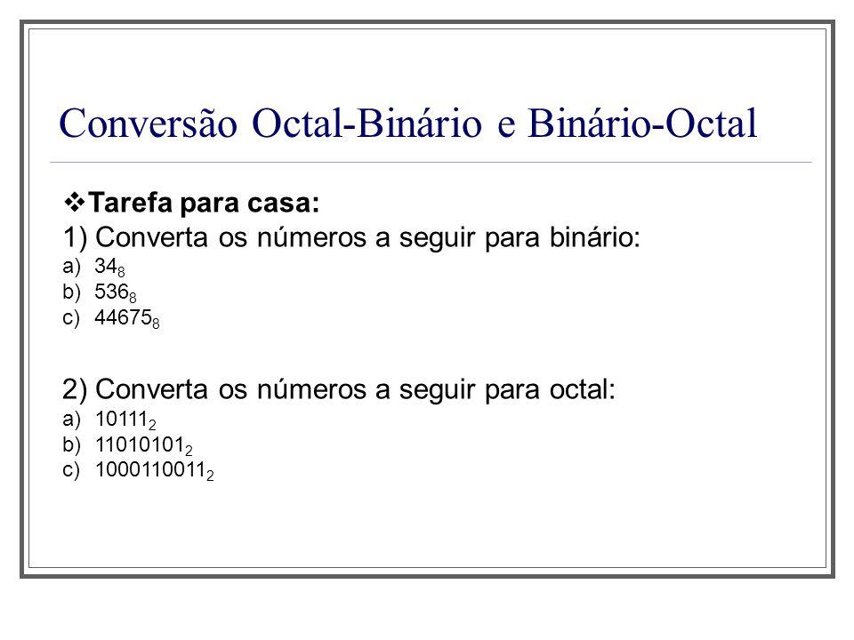 Conversão Octal-Binário e Binário-Octal