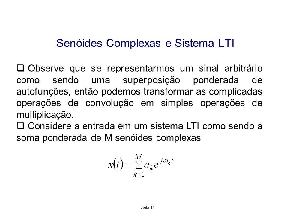 Senóides Complexas e Sistema LTI