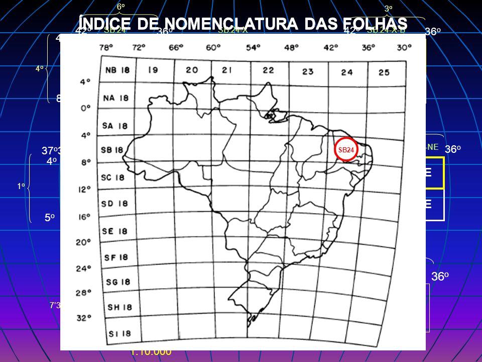 ÍNDICE DE NOMENCLATURA DAS FOLHAS ÍNDICE DE NOMENCLATURA DAS FOLHAS