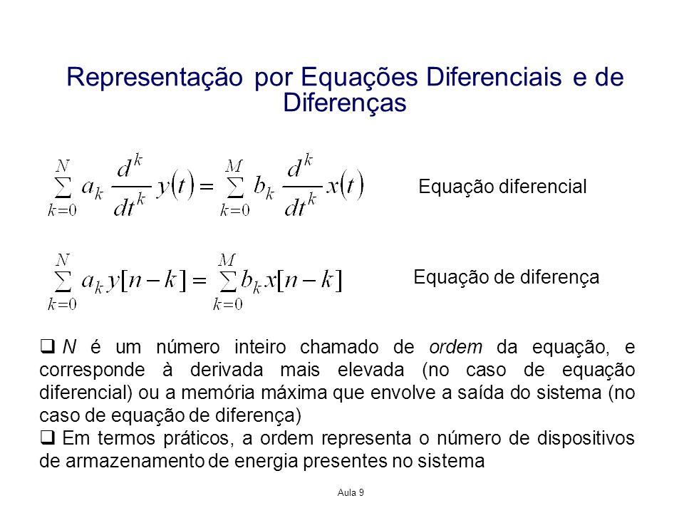 Representação por Equações Diferenciais e de Diferenças