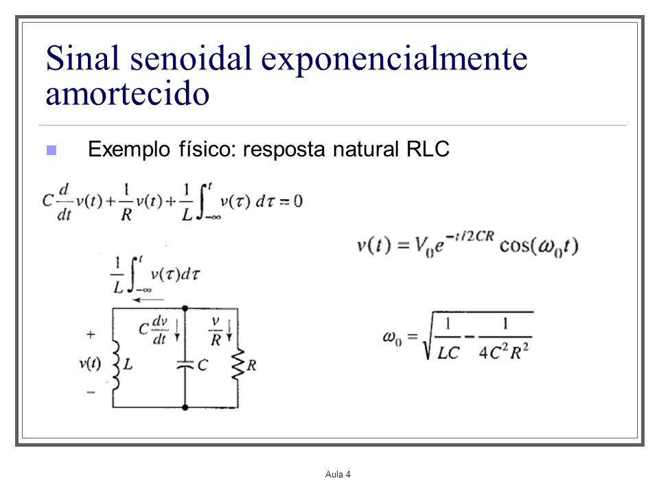 Sinal senoidal exponencialmente amortecido