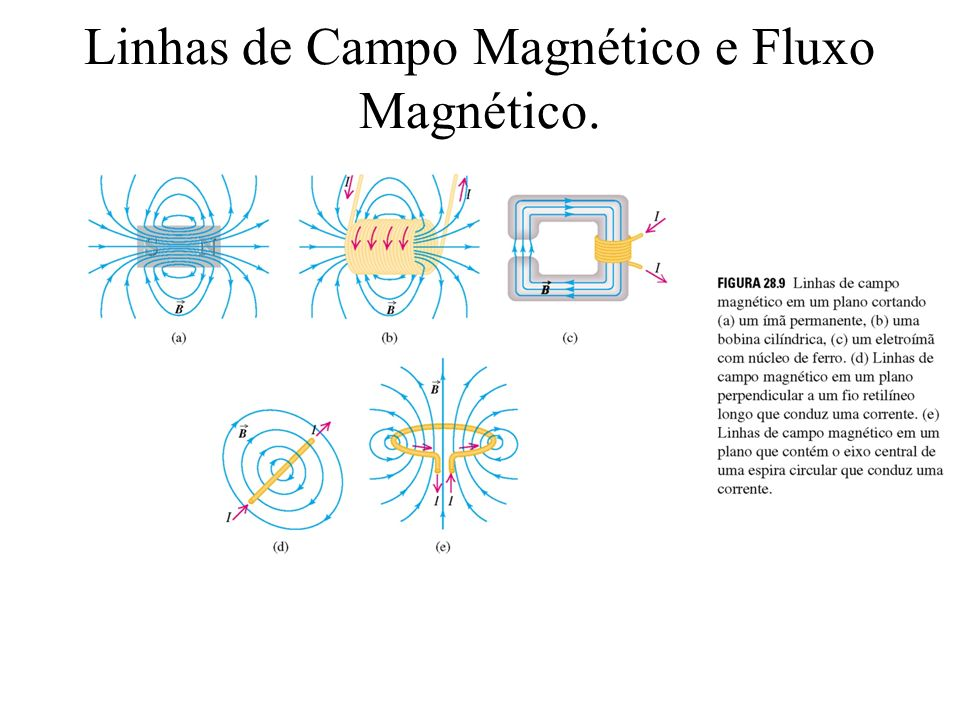 Linhas de Campo Magnético e Fluxo Magnético.