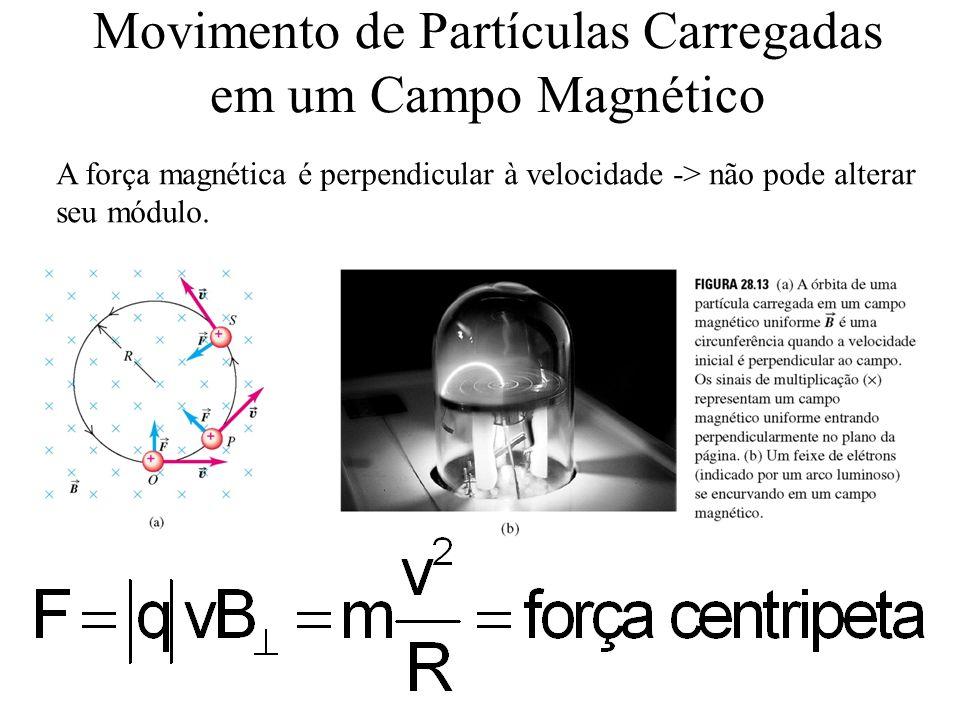 Movimento de Partículas Carregadas em um Campo Magnético