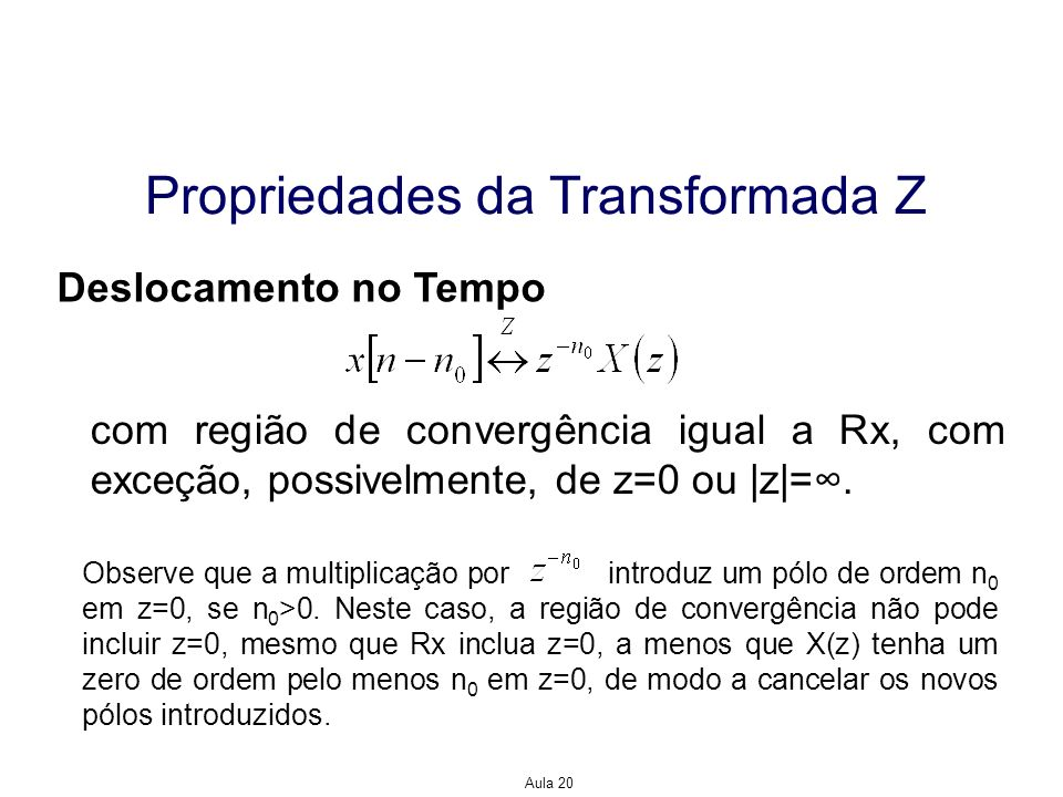 Propriedades da Transformada Z
