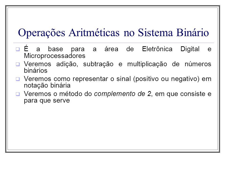 Operações Aritméticas no Sistema Binário