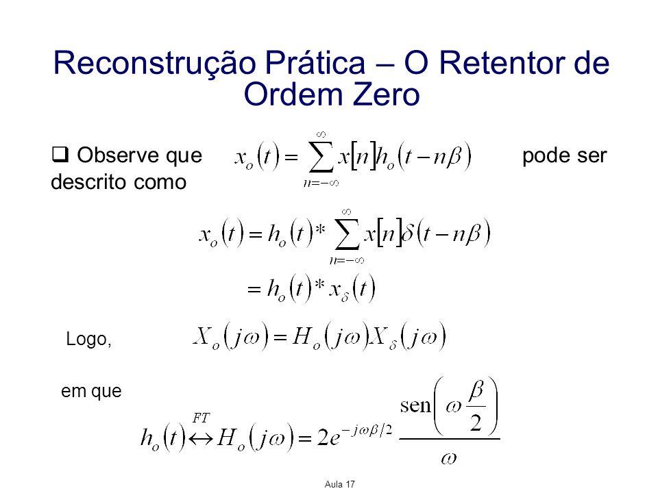 Reconstrução Prática – O Retentor de Ordem Zero