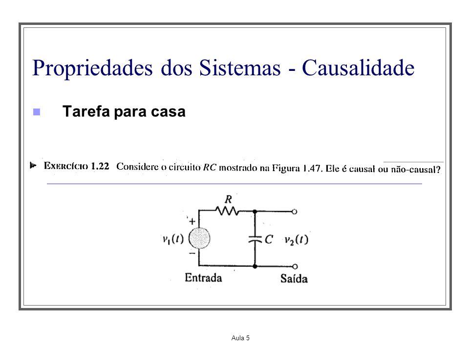 Propriedades dos Sistemas - Causalidade