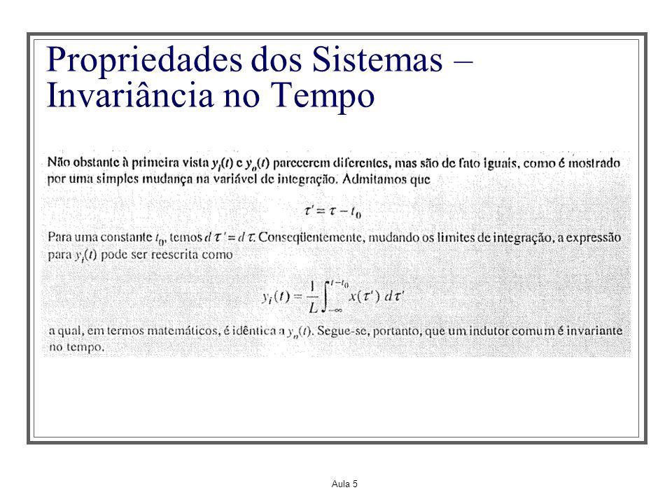 Propriedades dos Sistemas – Invariância no Tempo