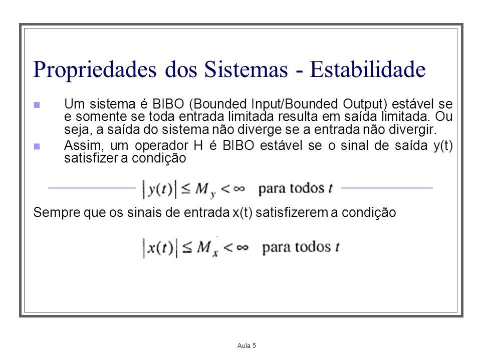 Propriedades dos Sistemas - Estabilidade