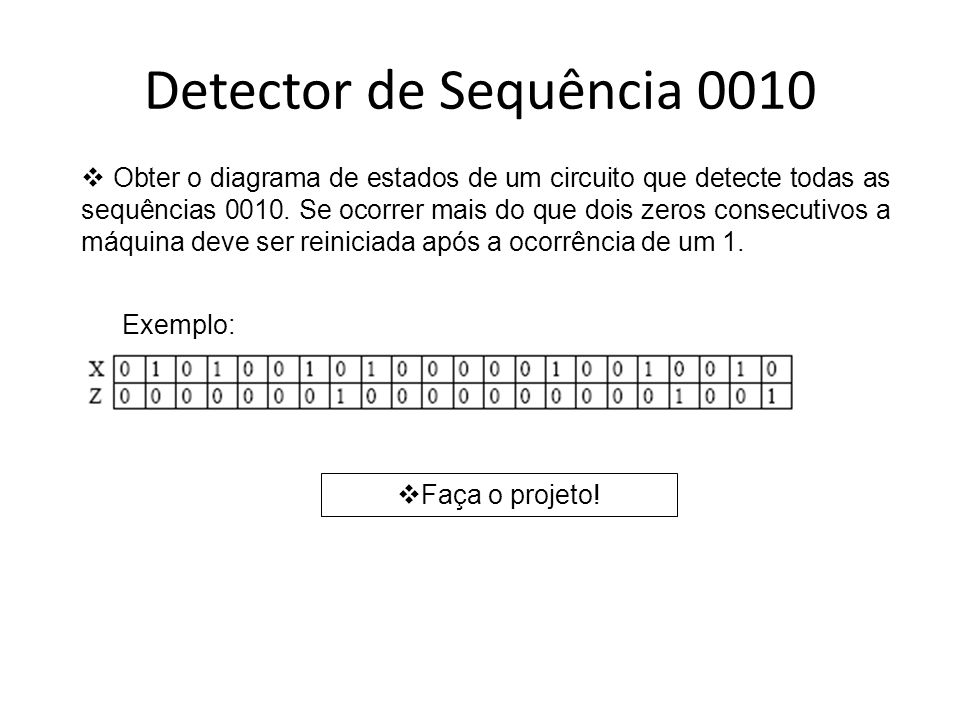 Detector de Sequência 0010