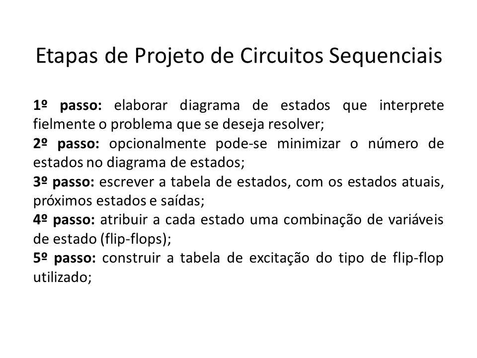 Etapas de Projeto de Circuitos Sequenciais