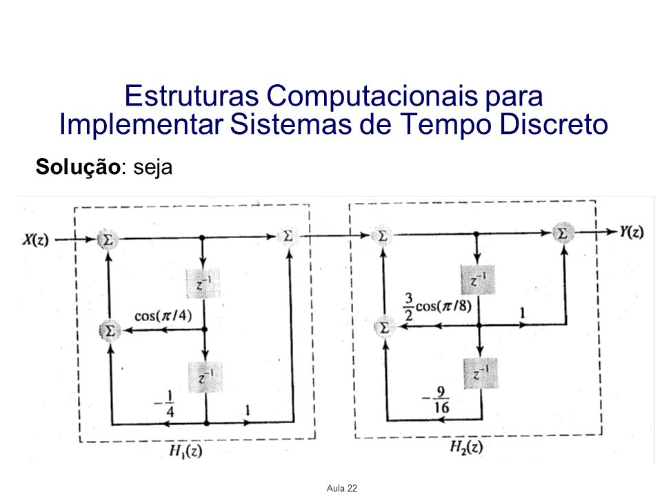 Estruturas Computacionais para Implementar Sistemas de Tempo Discreto