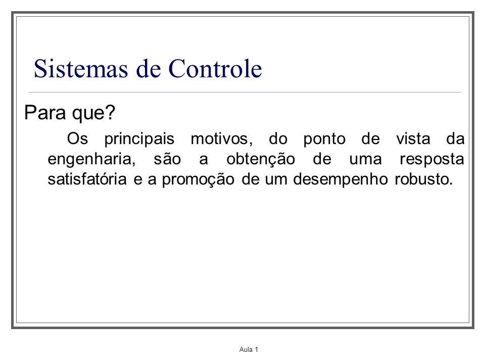 Sistemas de Controle Para que