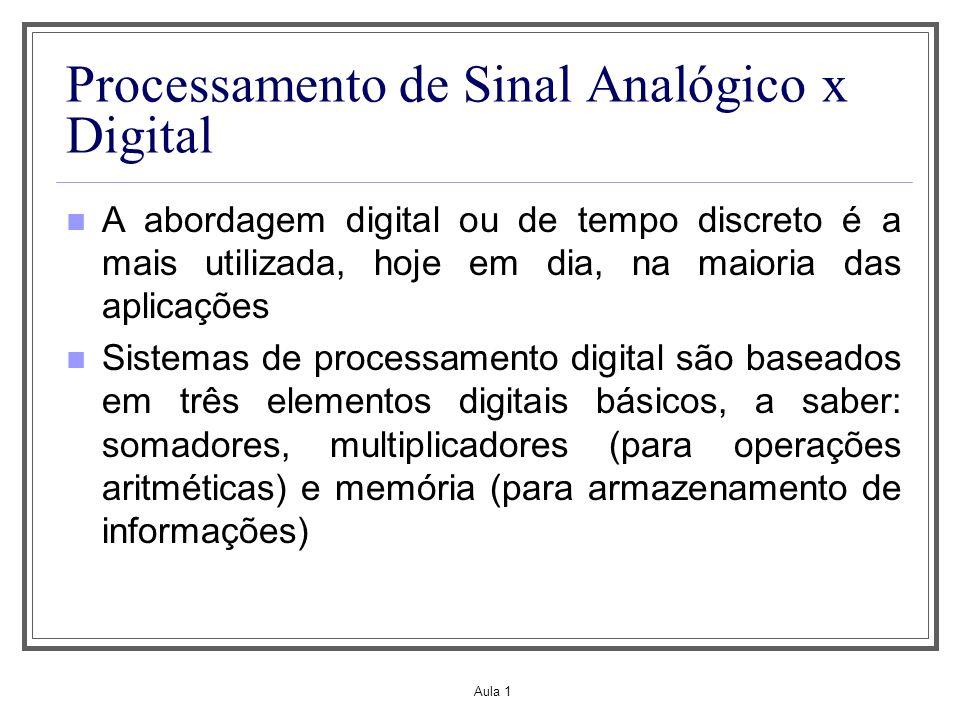 Processamento de Sinal Analógico x Digital