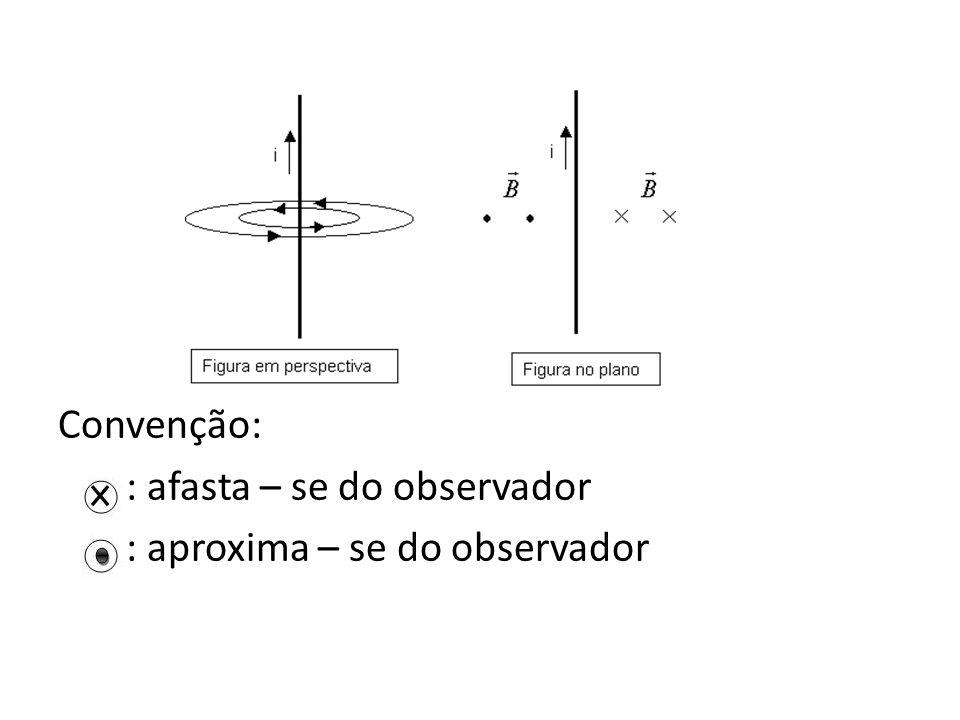 Convenção: : afasta – se do observador : aproxima – se do observador
