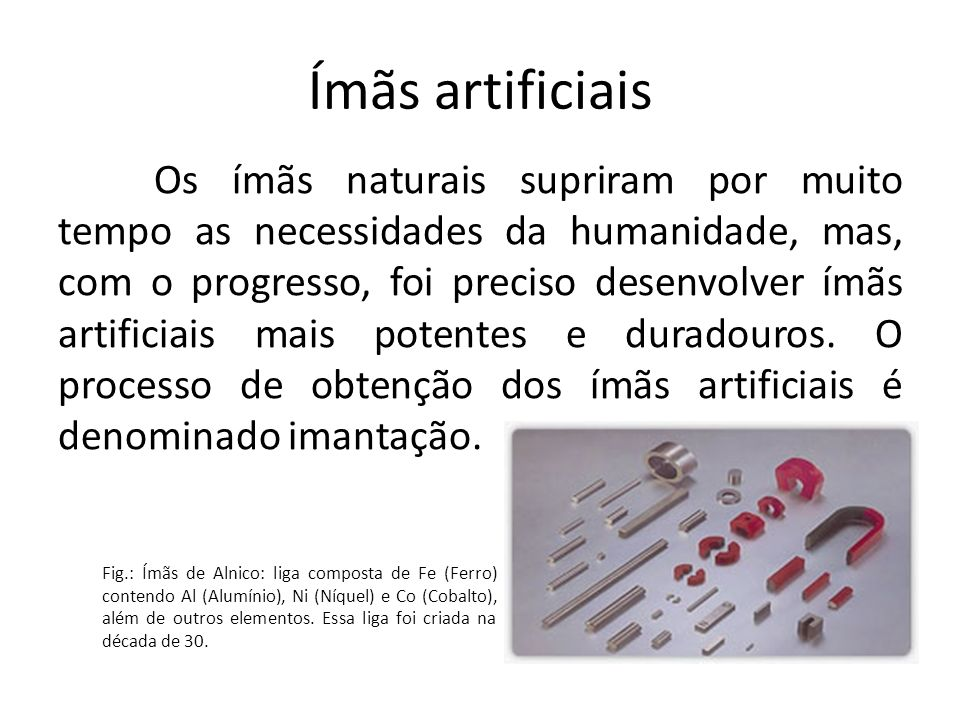 Ímãs artificiais