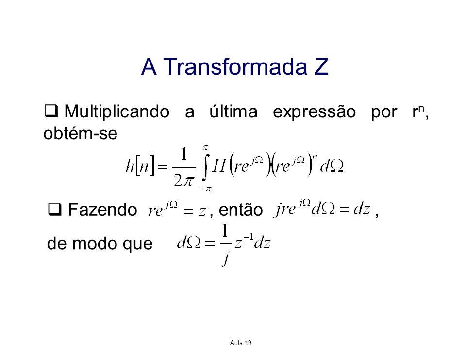 A Transformada Z Multiplicando a última expressão por rn, obtém-se