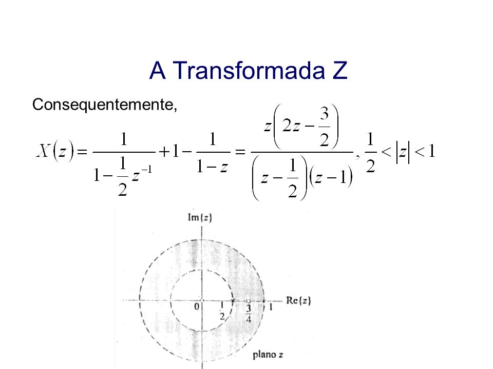 A Transformada Z Consequentemente, Aula 19