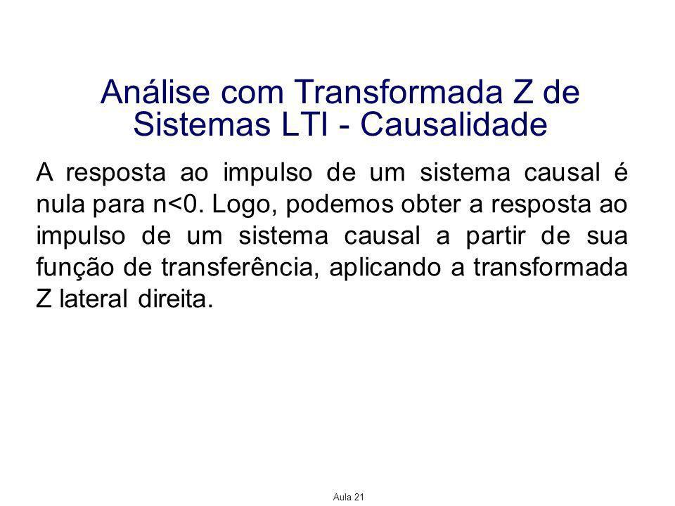 Análise com Transformada Z de Sistemas LTI - Causalidade