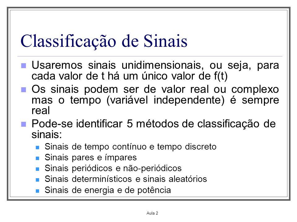 Classificação de Sinais
