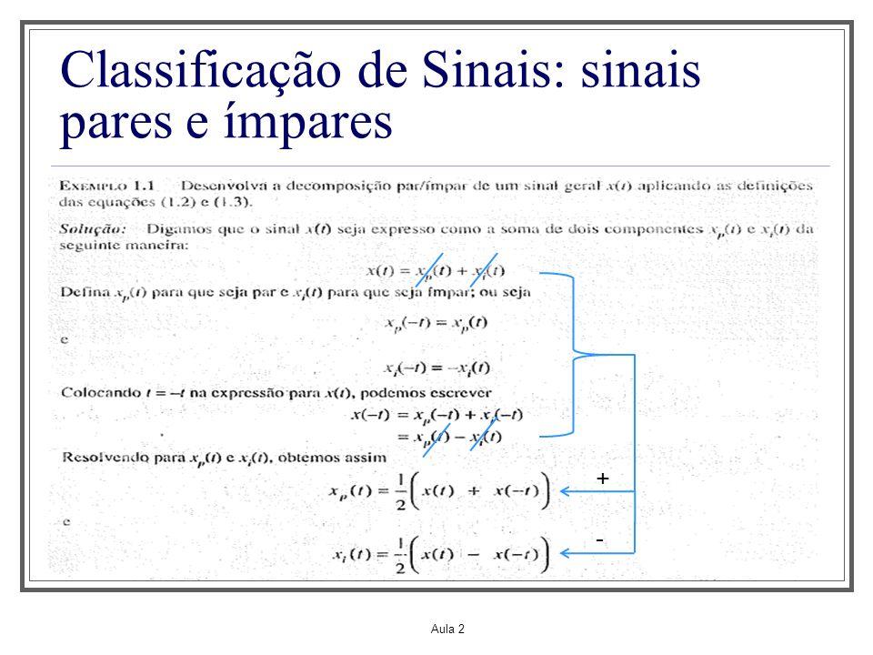 Classificação de Sinais: sinais pares e ímpares