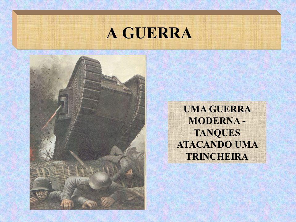 UMA GUERRA MODERNA - TANQUES ATACANDO UMA TRINCHEIRA