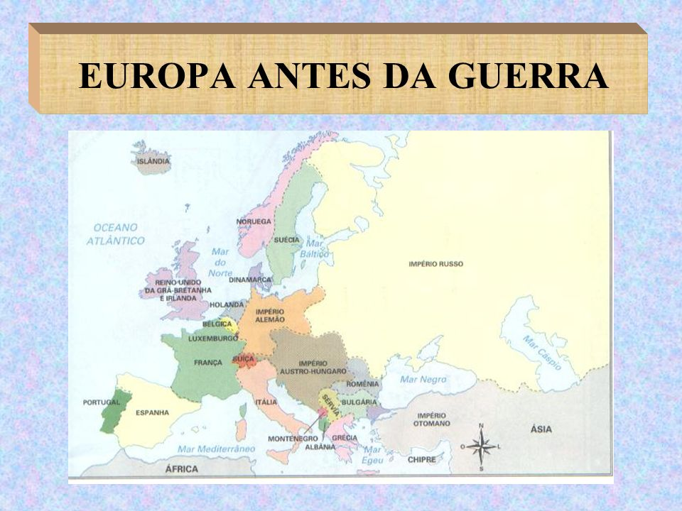 EUROPA ANTES DA GUERRA