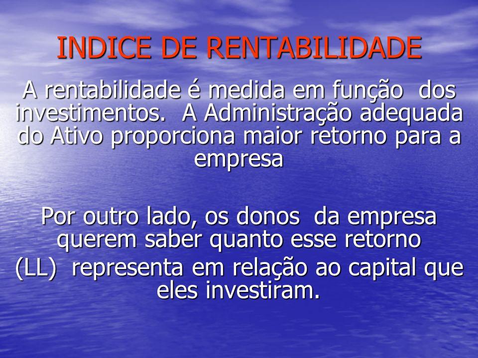 INDICE DE RENTABILIDADE