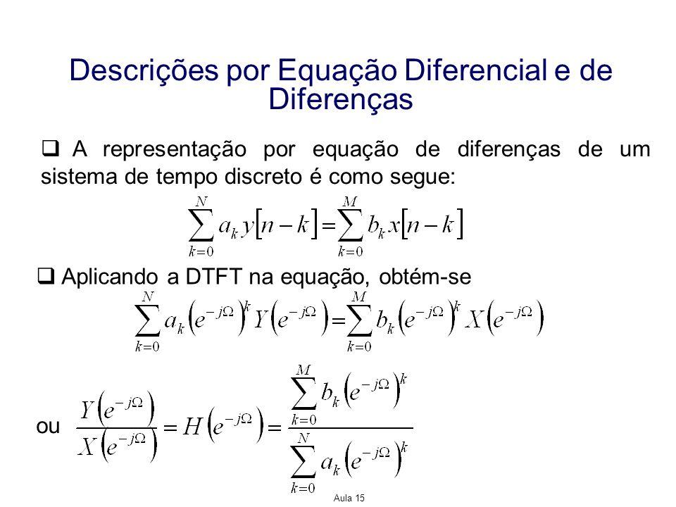 Descrições por Equação Diferencial e de Diferenças