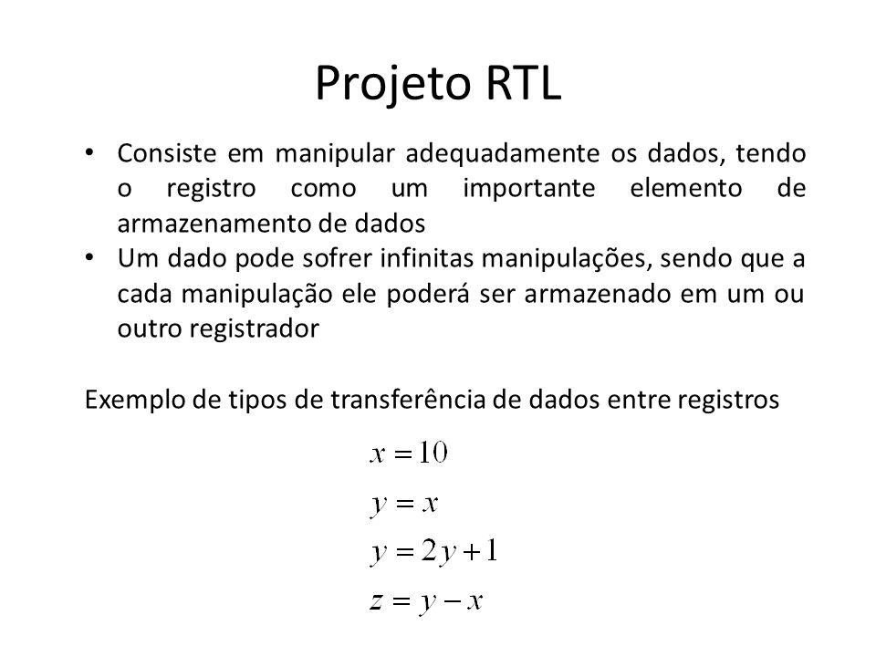 Projeto RTL Consiste em manipular adequadamente os dados, tendo o registro como um importante elemento de armazenamento de dados.
