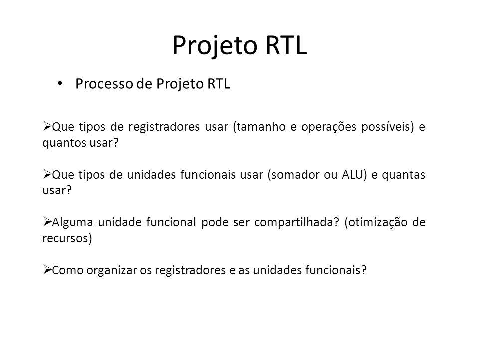 Projeto RTL Processo de Projeto RTL
