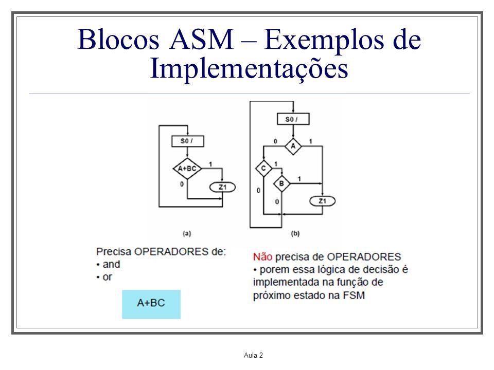 Blocos ASM – Exemplos de Implementações