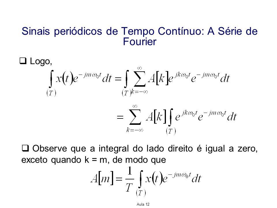 Sinais periódicos de Tempo Contínuo: A Série de Fourier