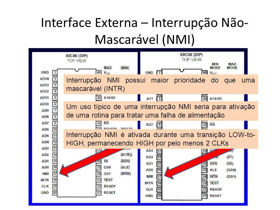 Interface Externa – Interrupção Não-Mascarável (NMI)
