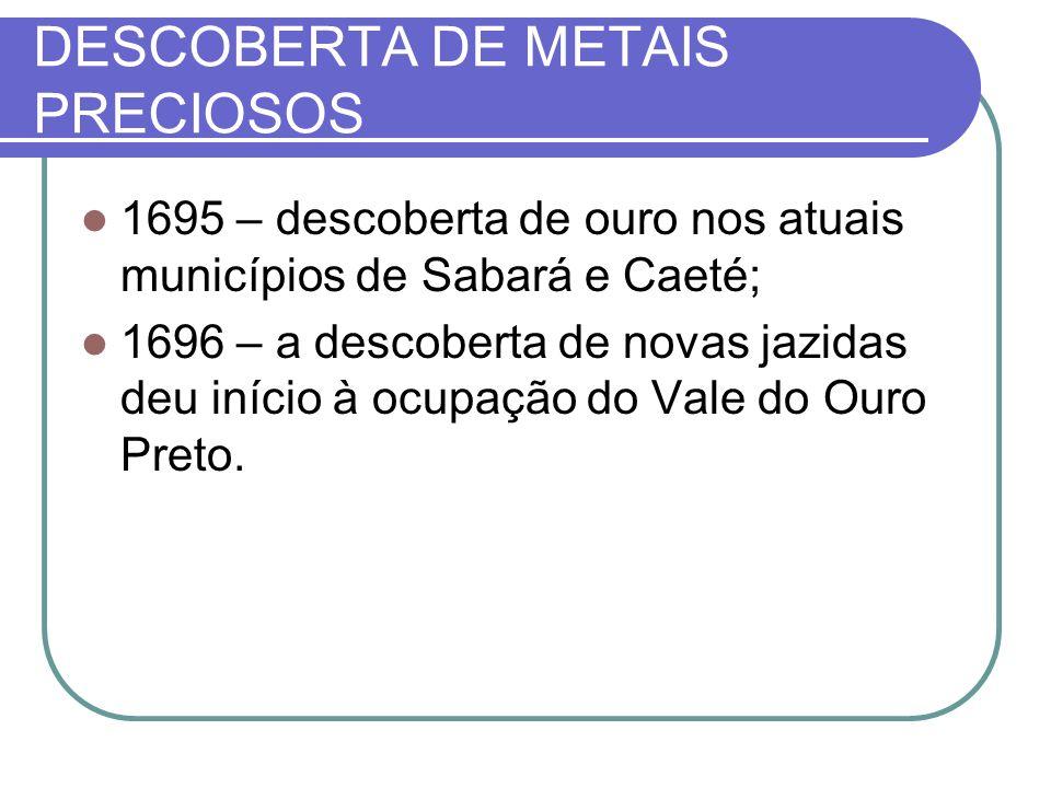 DESCOBERTA DE METAIS PRECIOSOS