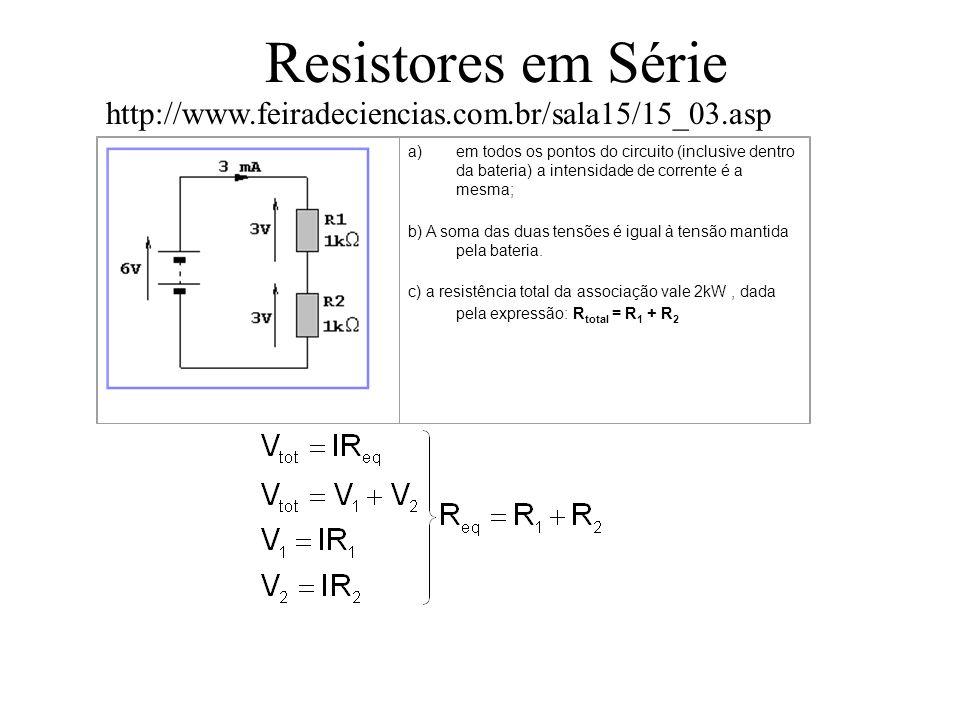 Resistores em Série http://www.feiradeciencias.com.br/sala15/15_03.asp