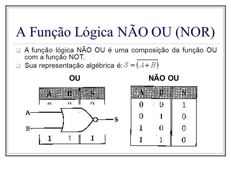A Função Lógica NÃO OU (NOR)