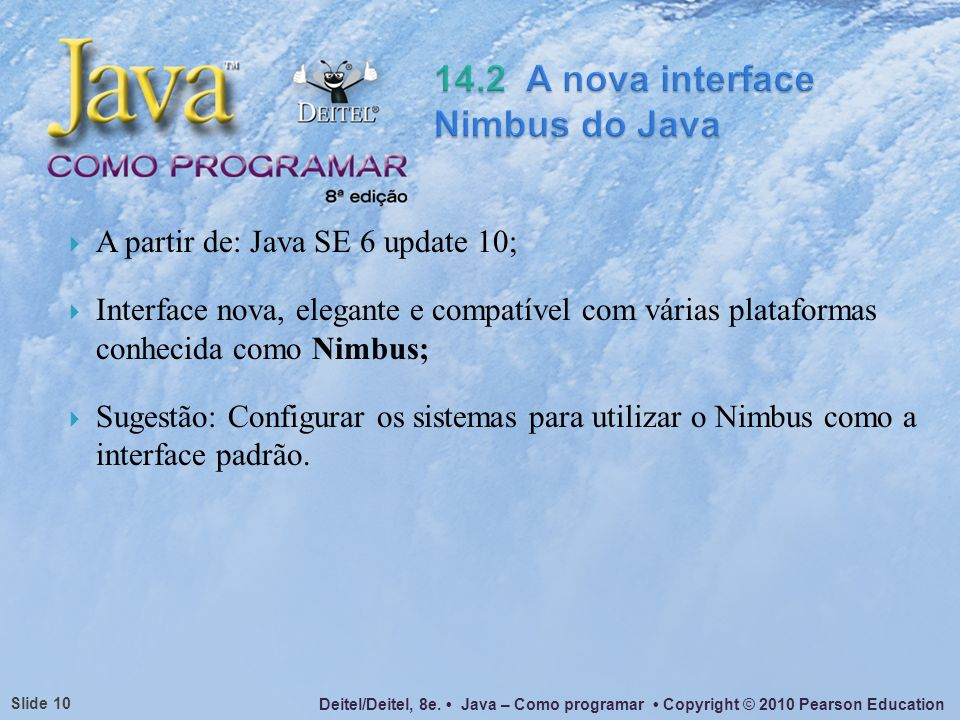14.2 A nova interface Nimbus do Java