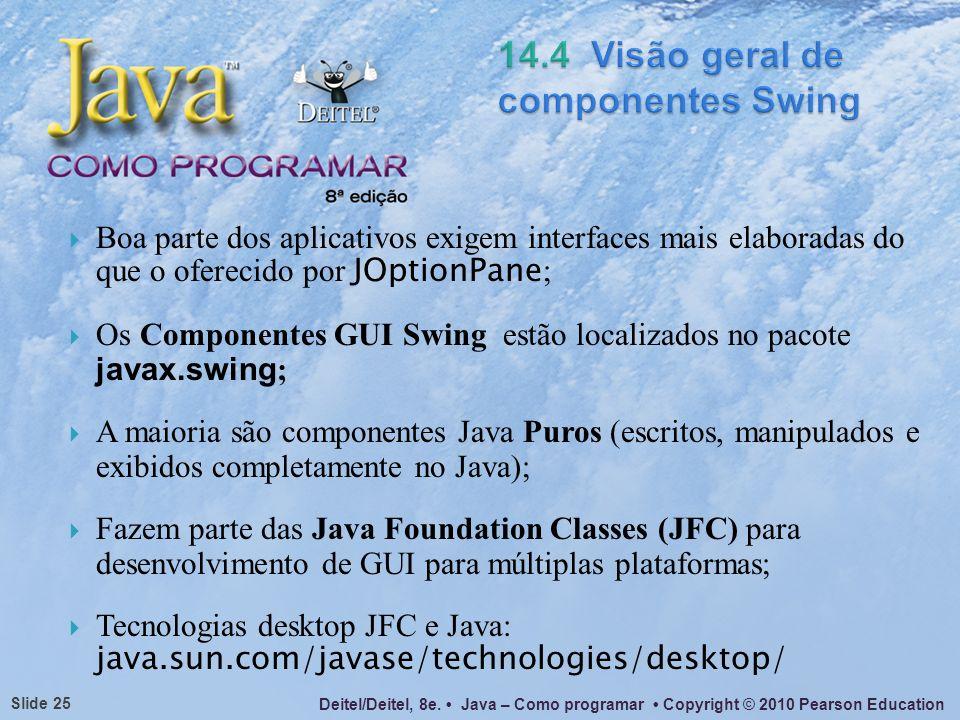 14.4 Visão geral de componentes Swing
