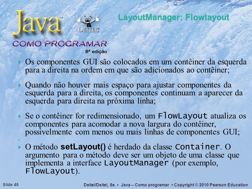 LayoutManager: Flowlayout