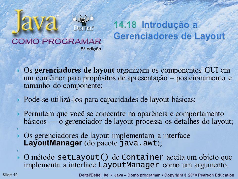 14.18 Introdução a Gerenciadores de Layout