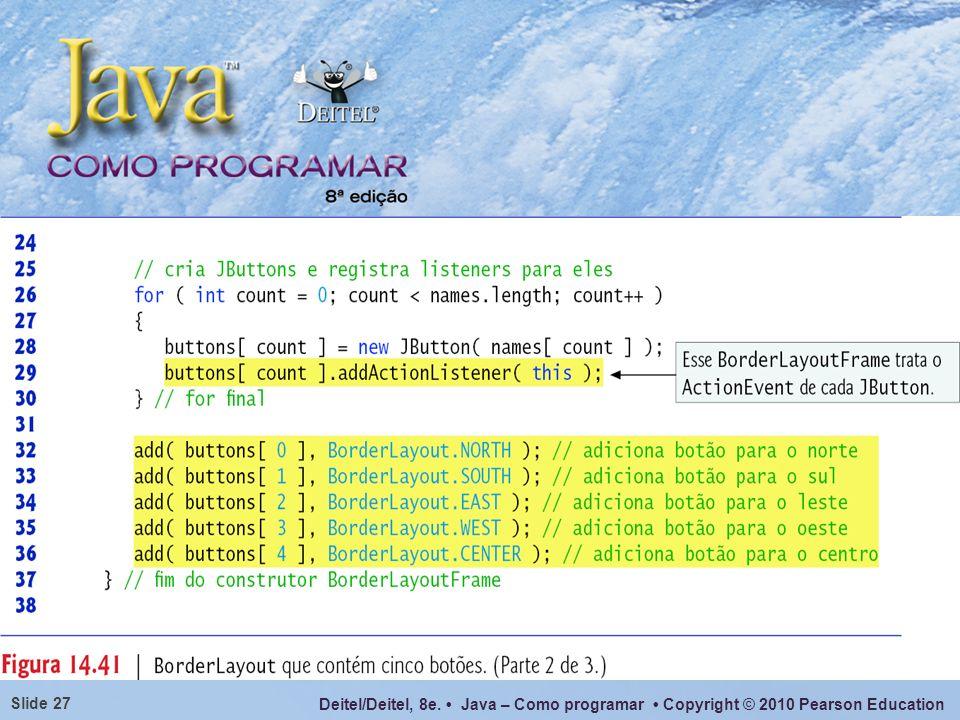 Para layouts mais complexos, sugere-se agrupar componentes em um container intermediário (como JPanel), cada um com um gerenciador de layout separado.