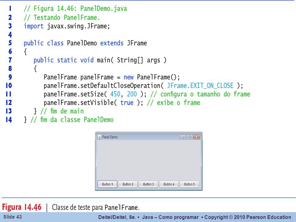 A Classe JPanel não contem um painel de conteúdo.