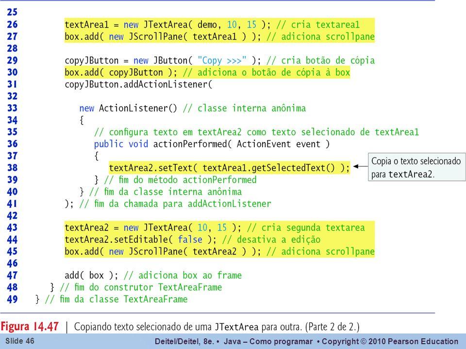 Um componente JTextArea não muda de linha automaticamente