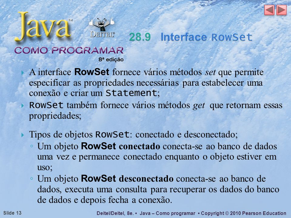 28.9 Interface RowSet