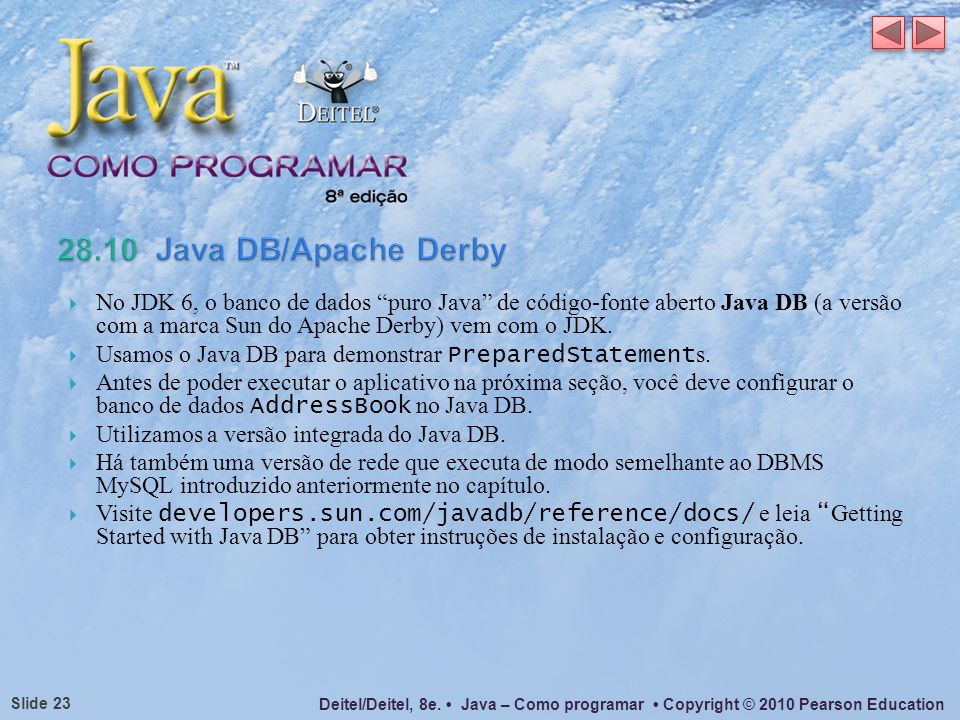 28.10 Java DB/Apache Derby