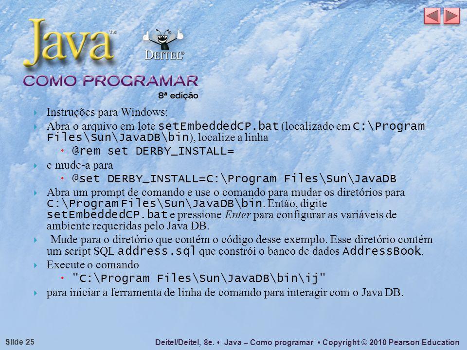 Instruções para Windows: