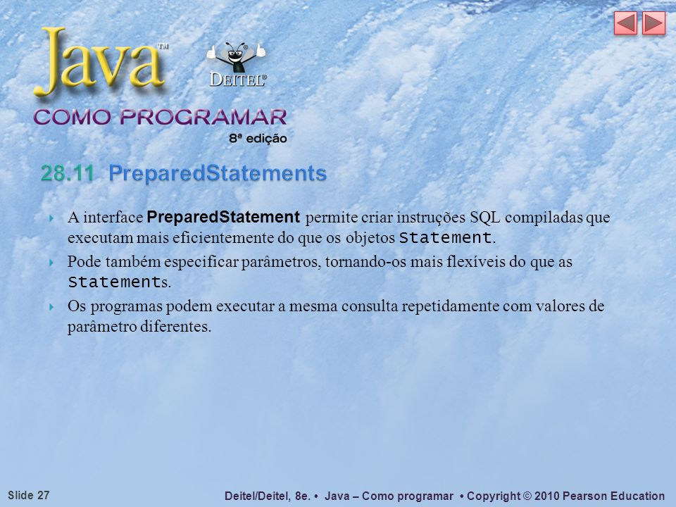 28.11 PreparedStatements